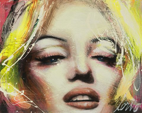 "Corno Portraits | Corno E-Store Marilyn 22 (P063) 24"" x 30"" Mixed Media on Canvas"