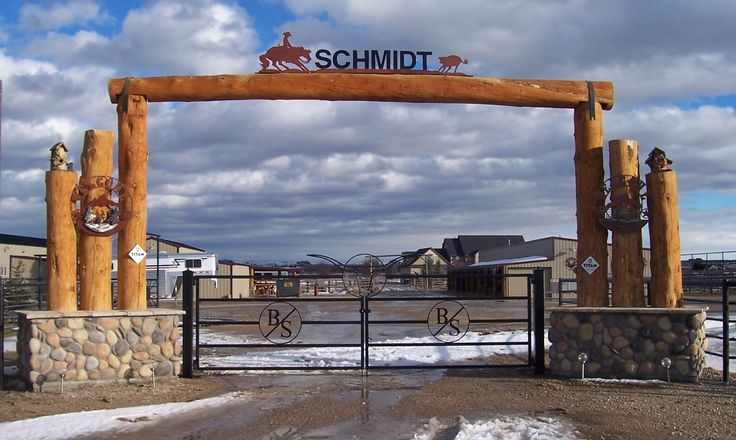 Metal projects gates western entry ranching for your