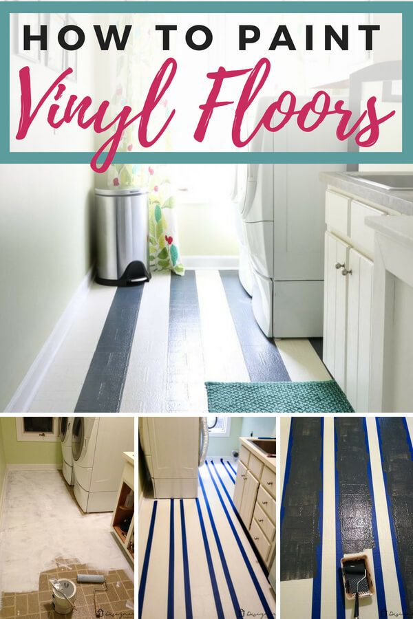 How To Paint Vinyl Floors Long Lasting Results Painted Vinyl Floors Vinyl Flooring Diy Flooring