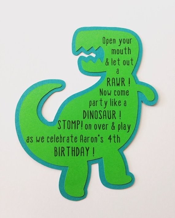 Dinosaur Birthday Invitations Dinosaur egg invitation