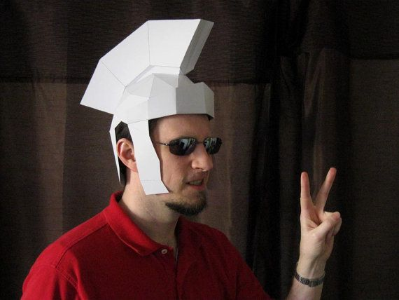 Make Your Own Trojan Helmet from Paper by TetraVariations on Etsy