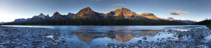 Athabasca River, Jasper, Alberta, Canada by David Noton