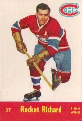 maurice richard hockey cards | 1955 Parkhurst Maurice Richard #37 Hockey Card