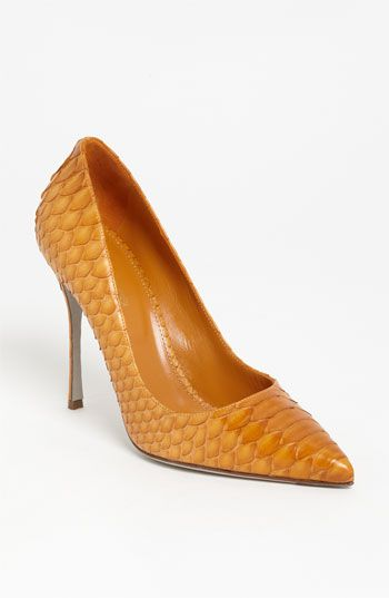 Sergio Rossi Genuine Python Pump available at #Nordstrom