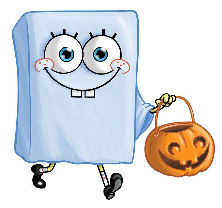 halloween spongebob and ghost image - Spongebob Halloween Game