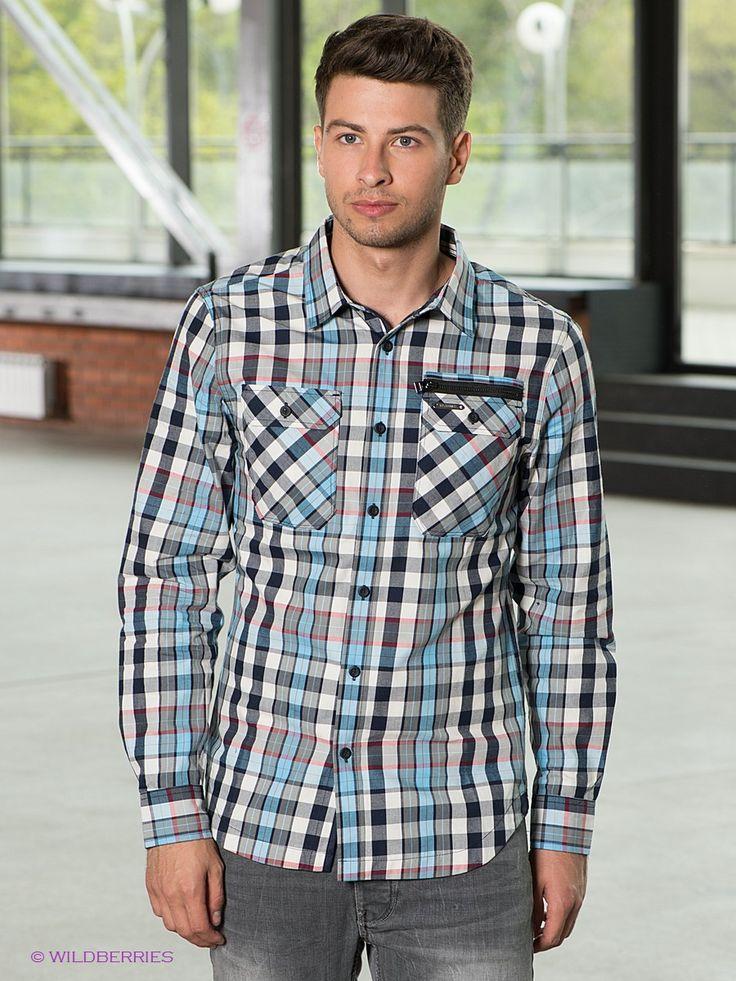Выбрать в AMODERNA.RU  Повседневная рубашка с длинными рукавами и отложным воротником