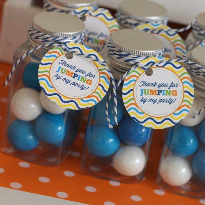 Colorful Trampoline + Jump themed birthday party via Kara's Party Ideas | KarasPartyIdeas.com (22)