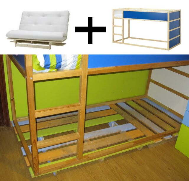 Up The Bed By Ikea Hackers Ikea Bed Pinterest The O