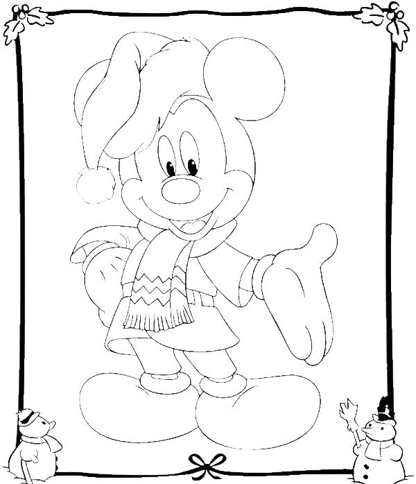 mickey mouse coloring pages christmas sleigh mickey best
