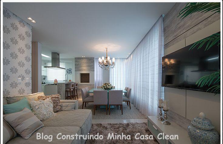 21 salas integradas pequenas lindas veja como decorar - Como decorar una casa pequena ...