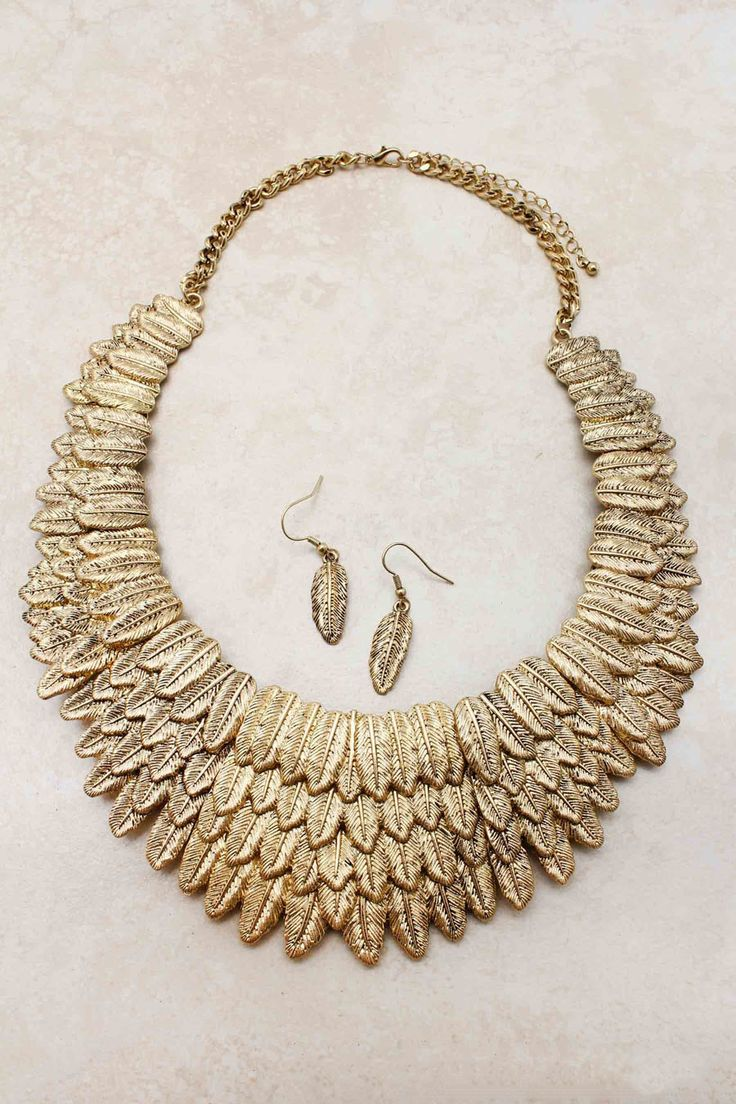 Athena feathers necklace, by Emma Stine