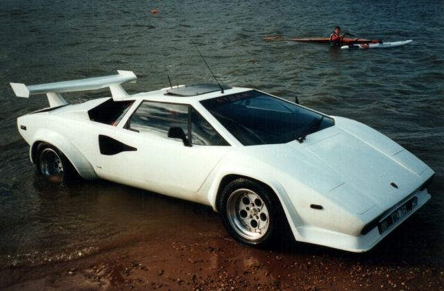 Now Is Your Chance To Own The Only Amphibious Lamborghini Countach In The World The only clone of the amphibious Lamborghini Countach can be yours, if you have the money and you really want it.This isn't the genuine car, but according to the seller, this is a very good replica, which cost a lot building it. It is 15 years old and it has never been used. Yes, it does need...