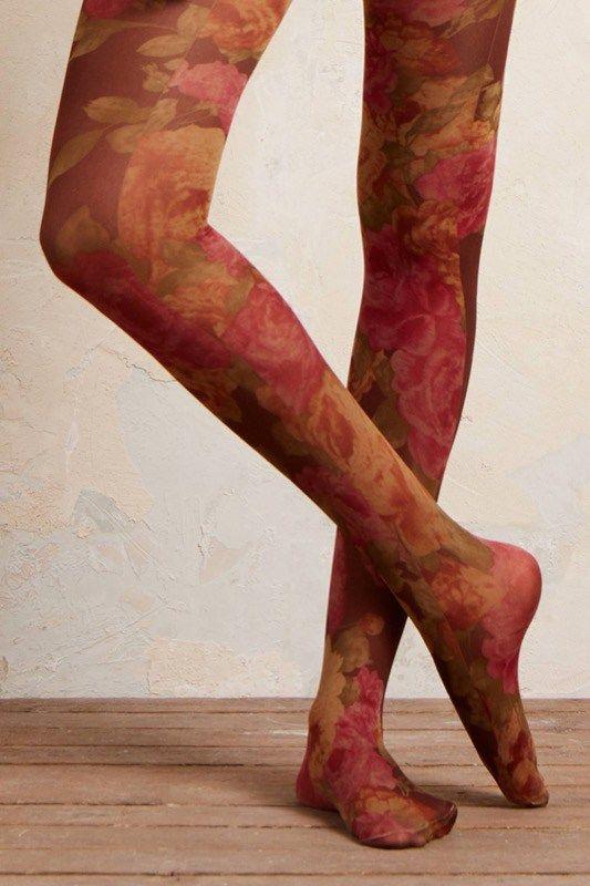 ClioMakeUp-collant-calze-pile-calde-lana-colorate-fantasia-come-floreale-fiori-anthropologie
