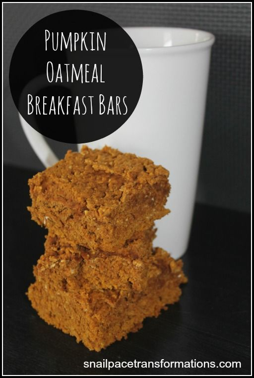 Pumpkin Oatmeal Breakfast Bars: A great filling on the go breakfast ...