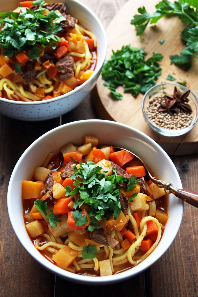 59 best central asia cuisine food images on pinterest asian lagman uzbek beef noodle soup with vegetables leelalicious lagman recipeuzbekistan foodbeef forumfinder Gallery