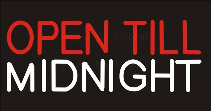 """NEON SIGN For Open till Midnight Bar Wine  Real GLASS Tube Beer PUB Restaurant Signboard store display Shop Light Signs 17*14"""" #Affiliate"""
