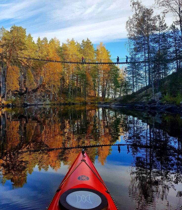 Repoveden kansallispuisto, Lapinsalmen riippusilta
