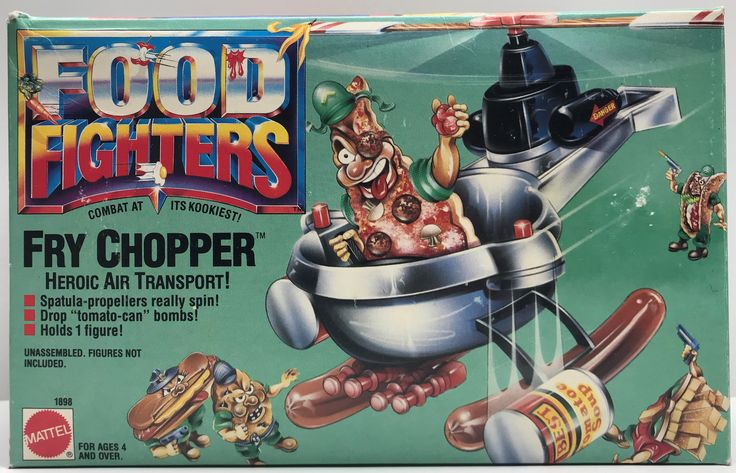 The Angry Spider has the best toys: TAS038037 - 1988 ...  Take a look: http://theangryspider.com/products/tas038037-1988-mattel-food-fighters-fry-chopper-heroic-air-transport?utm_campaign=social_autopilot&utm_source=pin&utm_medium=pin