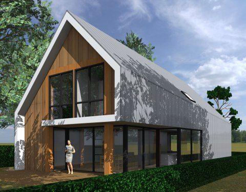 Een nieuw ontwerp voor een vrijstaande woning in een hedendaagse architectuur.