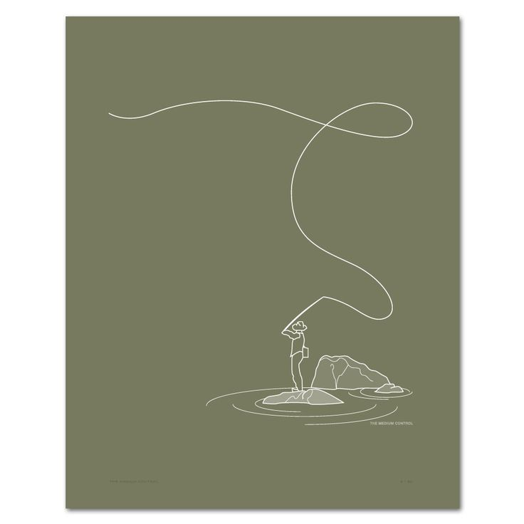 Cool if it could be a salt water fishing illustration    Art Print  Fly Fishing  Hand Screen Printed  16 x by mediumcontrol, $30.00