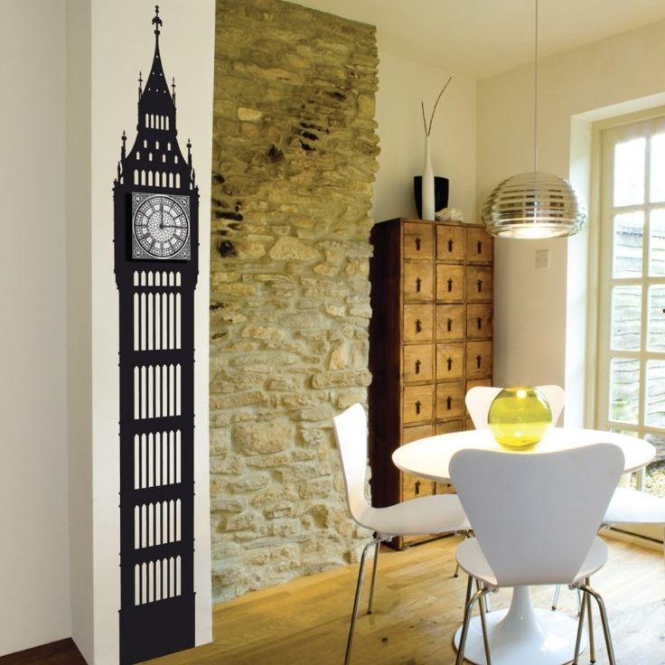The Big Ben... maar dan kleiner en bij jou thuis! Het kan met deze leuke muursticker annex klok van Funky Little Darlings. Price €169,95