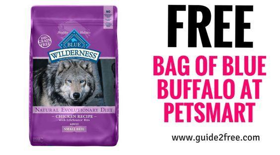 FREE Bag of Blue Buffalo at Petsmart Dog food coupons