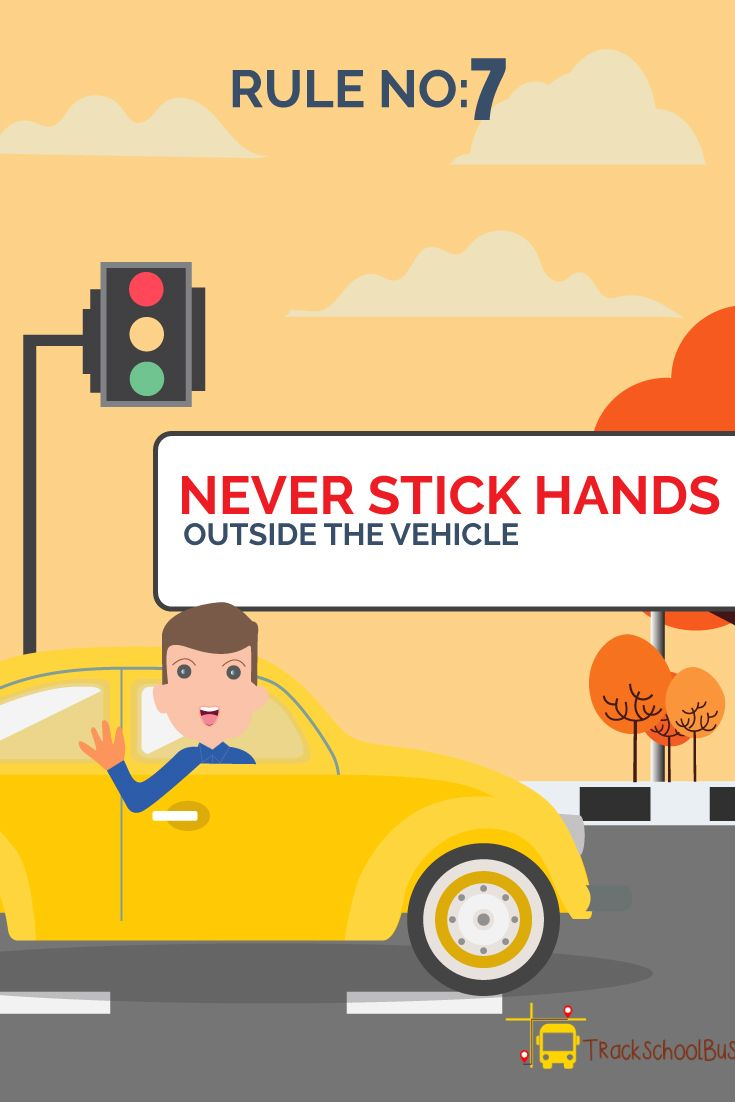 Road Safety Rules Rule No 7 Never Stick Hands Outside The