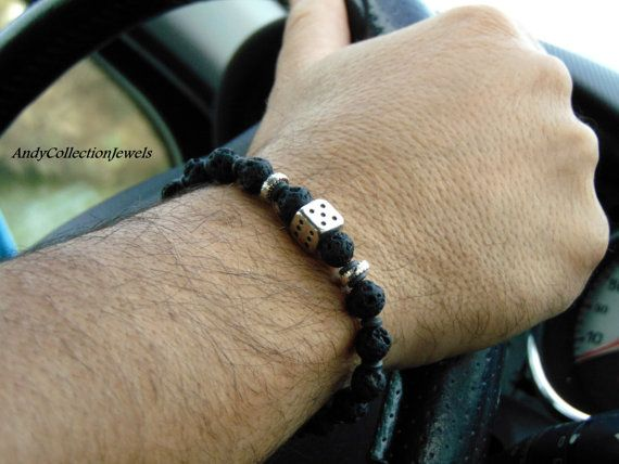 Lava mens bracelet Die tibet men bangle by AndyCollectionJewels