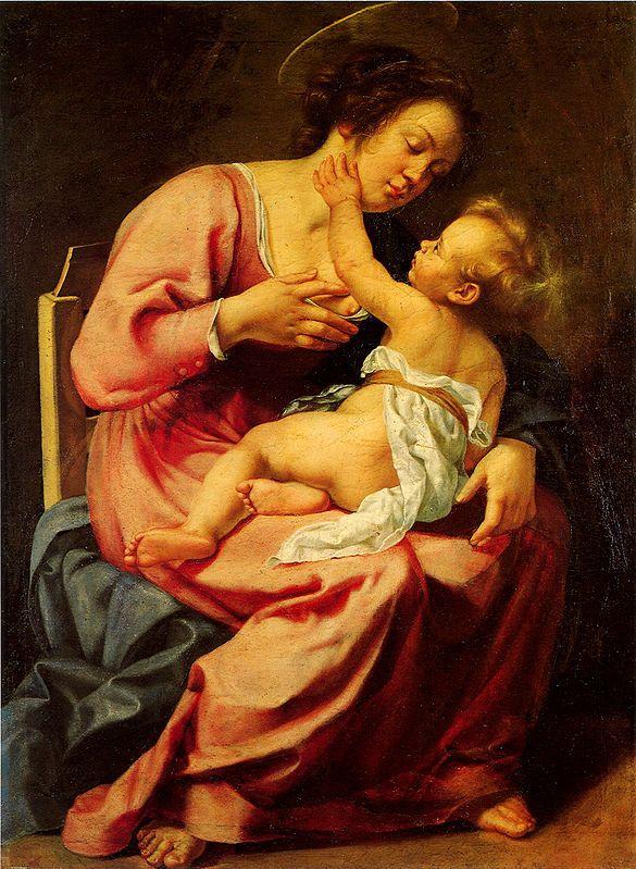 1-Madonna col Bambino Artemisia Gentileschi  daughter of Orazio Gentileschi.