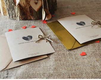 10 x Kraft Wedding Invitation / Rustic Wedding by adrimdesign