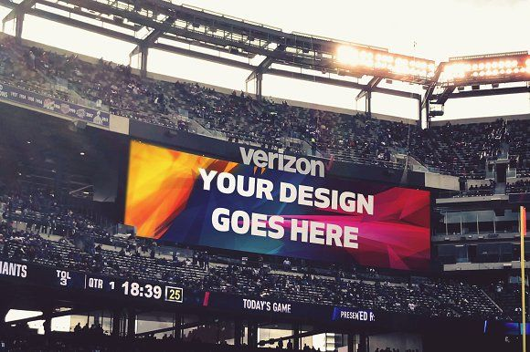 NFL Stadium Projector Mock-up by Laura on @creativemarket