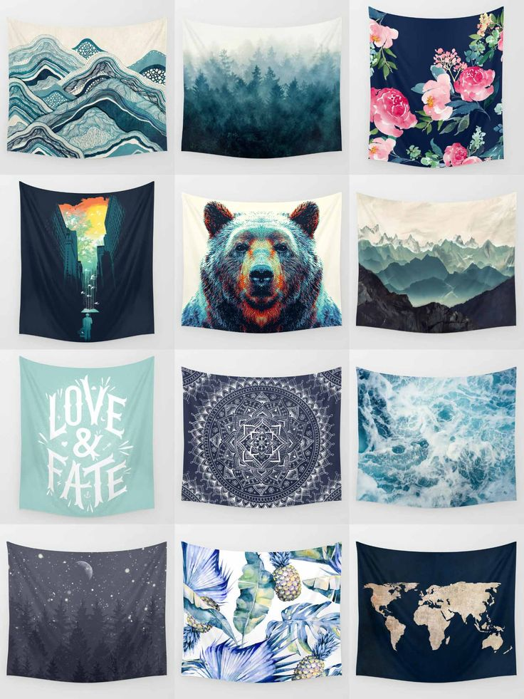 Society6 Blue Tapestries - Society6 is home to hundreds of thousands of artists from around the globe, uploading and selling their original works as 30+ premium consumer goods from Art Prints to Throw Blankets. They create, we produce and fulfill, and eve (Diy Wall Tapestry)