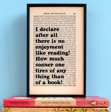 Pride and Prejudice bookworm gift
