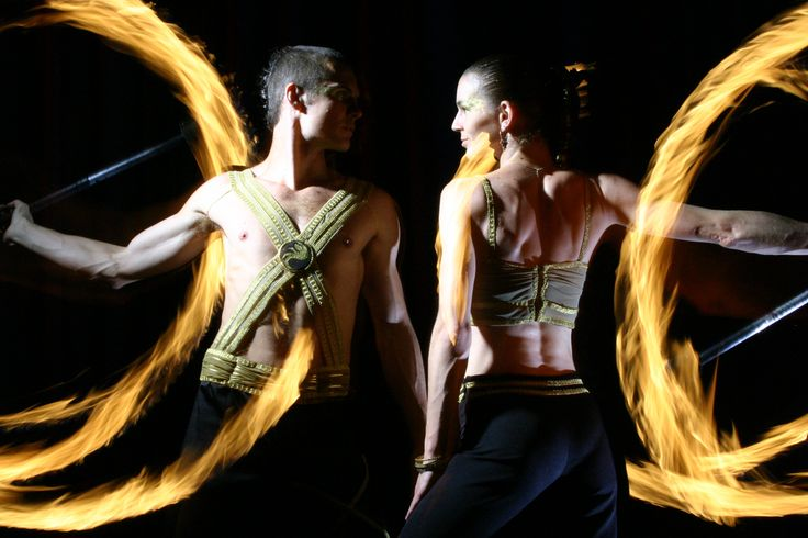Firedancers and their romantic duet - Anta Agni FIRE Show. http://antaagni.com/fire-show/