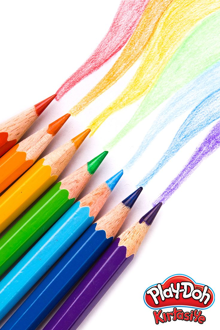 Renk dalgası temalı kuru boya çalışmamız! #playdohkirtasiye #kuruboya #colorpencils #color #pencils