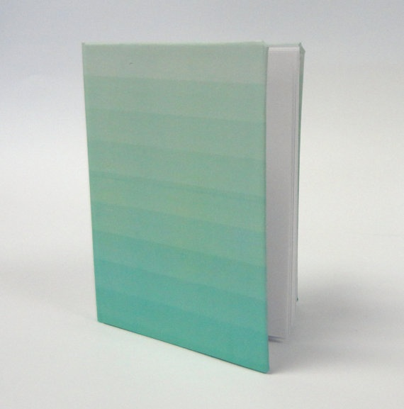 Mint Green Ombre  Bound Notebook by mildmilestyle on Etsy, $6.00