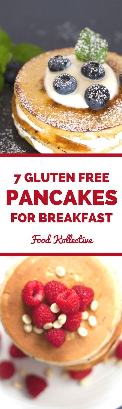 I was searching for gluten free pancakes and these look really tasty! There are recipes for gluten free pumpkin pancakes, gluten free chocolate chip pancakes, gluten free blueberry pancakes, and more! These would be great for a sweet breakfast or brunch. Collected on FoodKollective.com