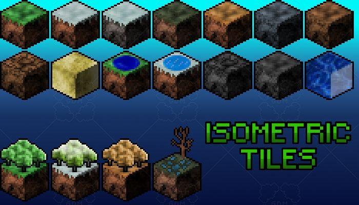 Isometric Land Tiles Game art, Tiles, Marketing