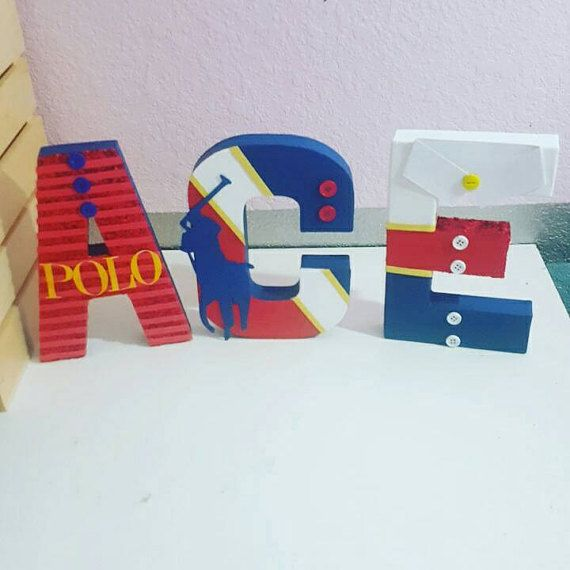 Polo theme letters by KnoahsArt2015 on Etsy