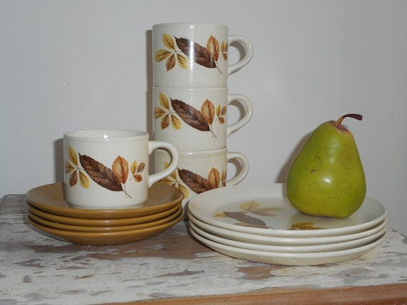 Retro   Johnsons of Australia  Set of Four  Cup by MYVINTAGEMOON