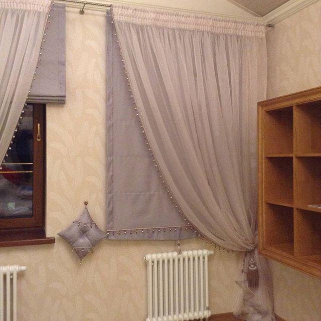 Римские шторы очень популярны, в разных сочетаниях! #шторы#римскиешторы#дизайнштор#подзаказ#индивидуальныйпошив#карнизы#ткани