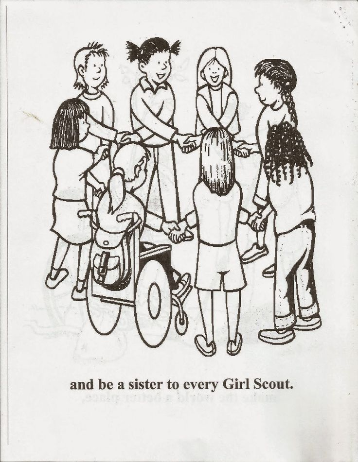 junior girl scout coloring pages - photo#36