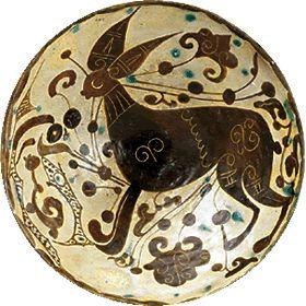 Bowl with Rabbit Design  Nishapur, Iran, 10th—11th century