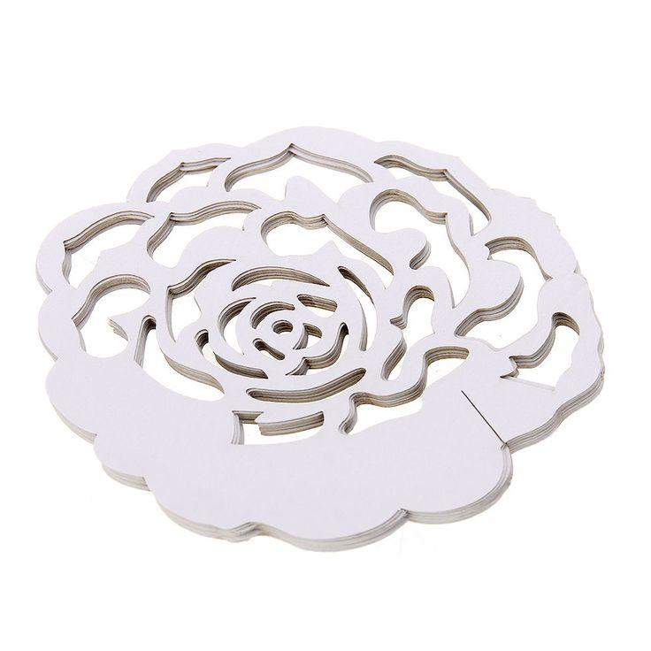 12PZ Segnaposto da Bicchiere Tavolo Rosa Bianco per Decoro Matrimonio Festa in Casa, Arredamento e Bricolage | eBay