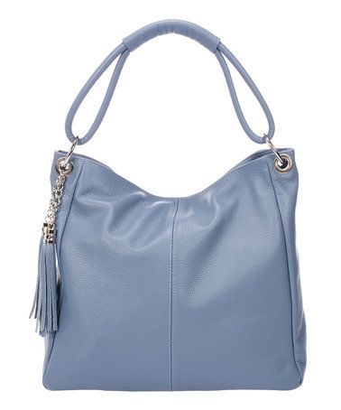 Another great find on #zulily! Glicine Tassel Pebbled Leather Hobo #zulilyfinds