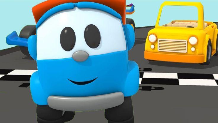 Leo costruisce una macchina cabriolet! Cartoni animati per bambini
