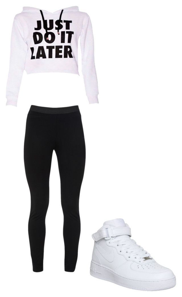 """Just Do It Later"" by hdflynn ❤ liked on Polyvore featuring Peace of Cloth and NIKE"