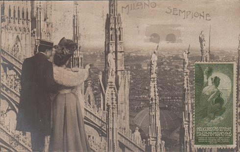 EXPO MILANO 1906. Cartolina