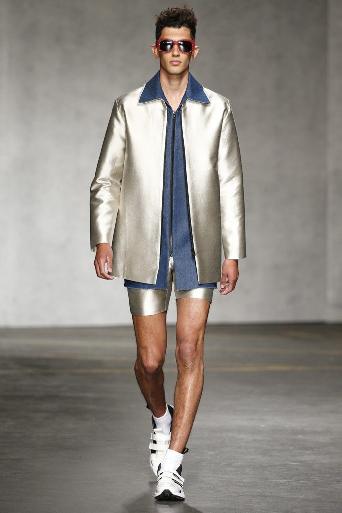 Xander Zhou Men's RTW Spring 2015 [Photo by Giovanni Giannoni]