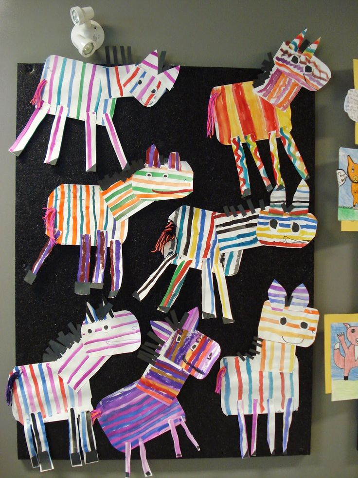 Geography for Kids: Africa - a faithful attempt: Colorful Zebras for preschool & elementary